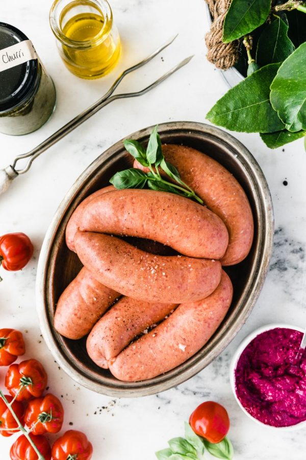 Gluten-free and preservative-free sausages from The Food Farm